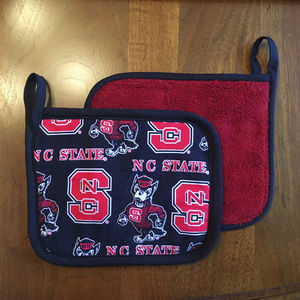 Kitchen - Two ❤️NC State🖤 Handcrafted Potholders